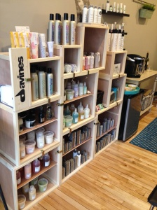 We love the product lines from Davines and Dermalogica!